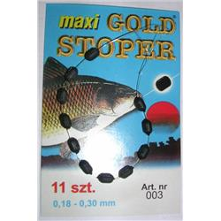 Stoper maxi gold - czarny gumowy do 0.18-0.30mm