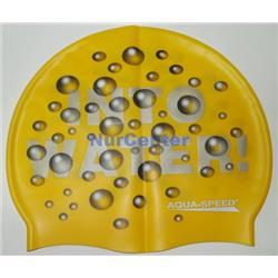 Czepek do pływania silikon AquaSpeed Water żółty